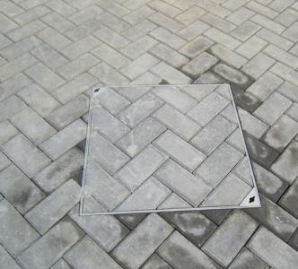 重庆户外公园案井盖安装例